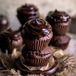 Chocolate Hazelnut Chickpea Flour Muffins